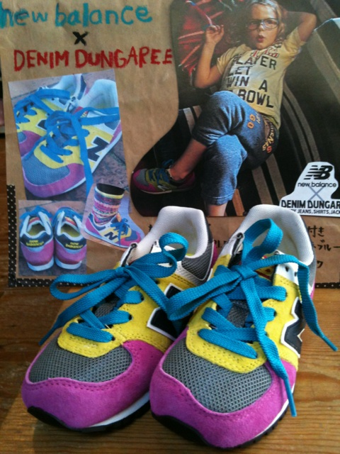 new balance × DENIM DUNGAREE スニーカー